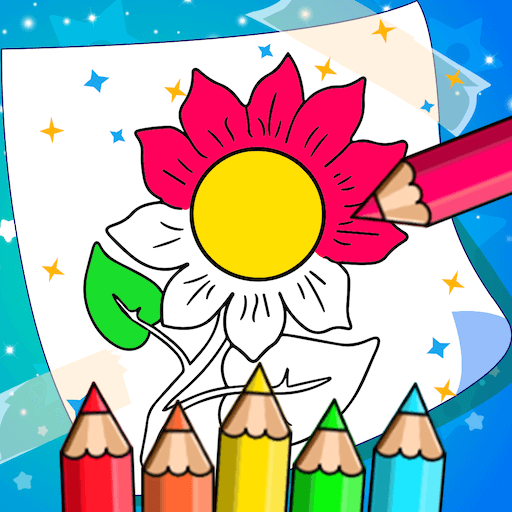 Flower Coloring Book Game For Android & IOS - Flower Coloring Book